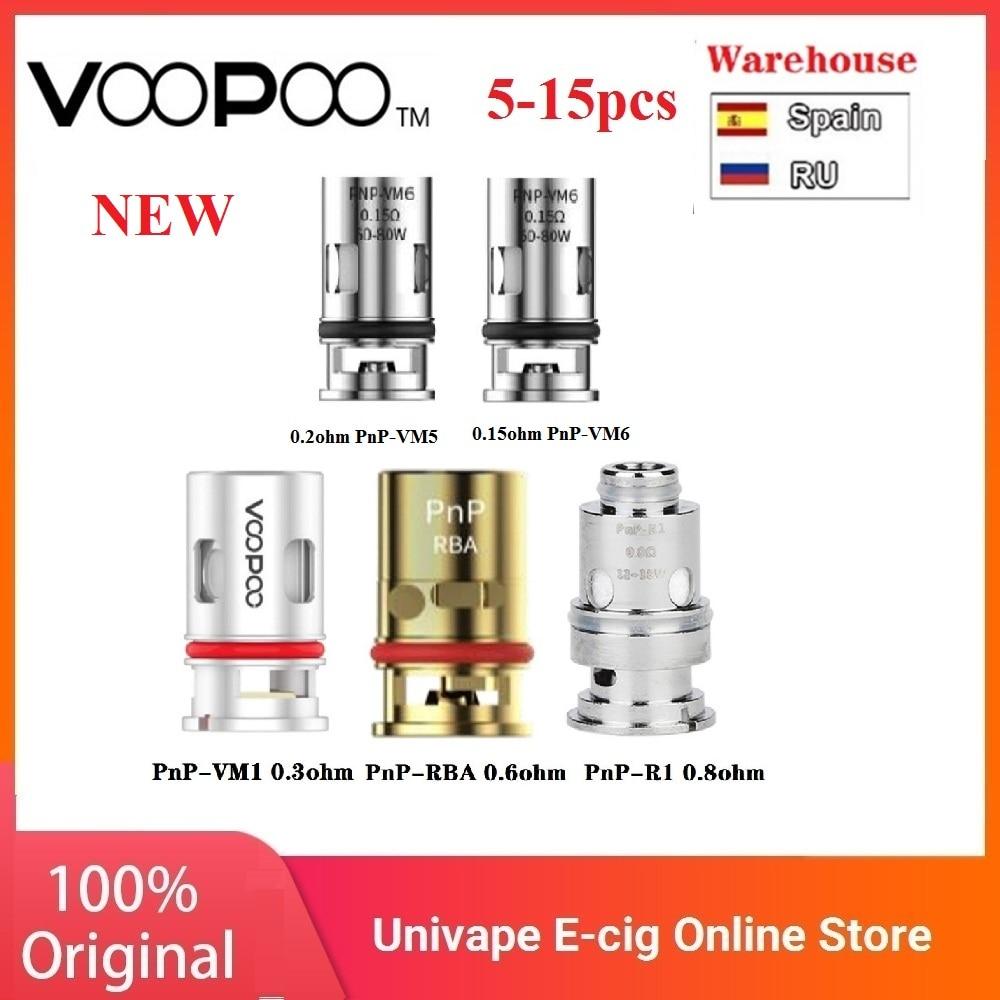 5-15pcs Original VOOPOO PnP Coils 0.3ohm/0.8 Ohm Mesh Coil / 0.15ohm PnP-VM6/0.2ohm PnP-VM5 For VOOPOO Drag X /Drag S/ Vinci Kit