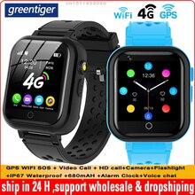Greentiger T16 GPS WIFI מיקום SOS 4G ילדים חכם שעון וידאו שיחת מצלמה IP67 עמיד למים קול לשוחח ילדי Smartwatch תינוק