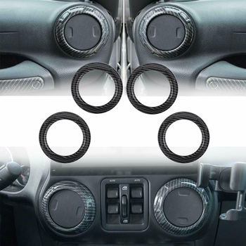 ABS Plastic Car Interior trim Decal Decor 18pcs For Jeep Wrangler JK 2011-2017