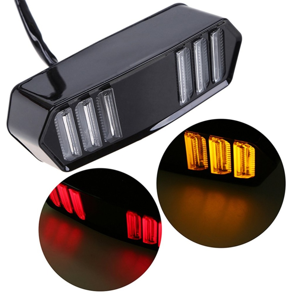 Stylish Motorcycle Tail Light Brake Indicator Lamp Rear LED Light Motorbike Modified Accessories Decorative Light For HONDA