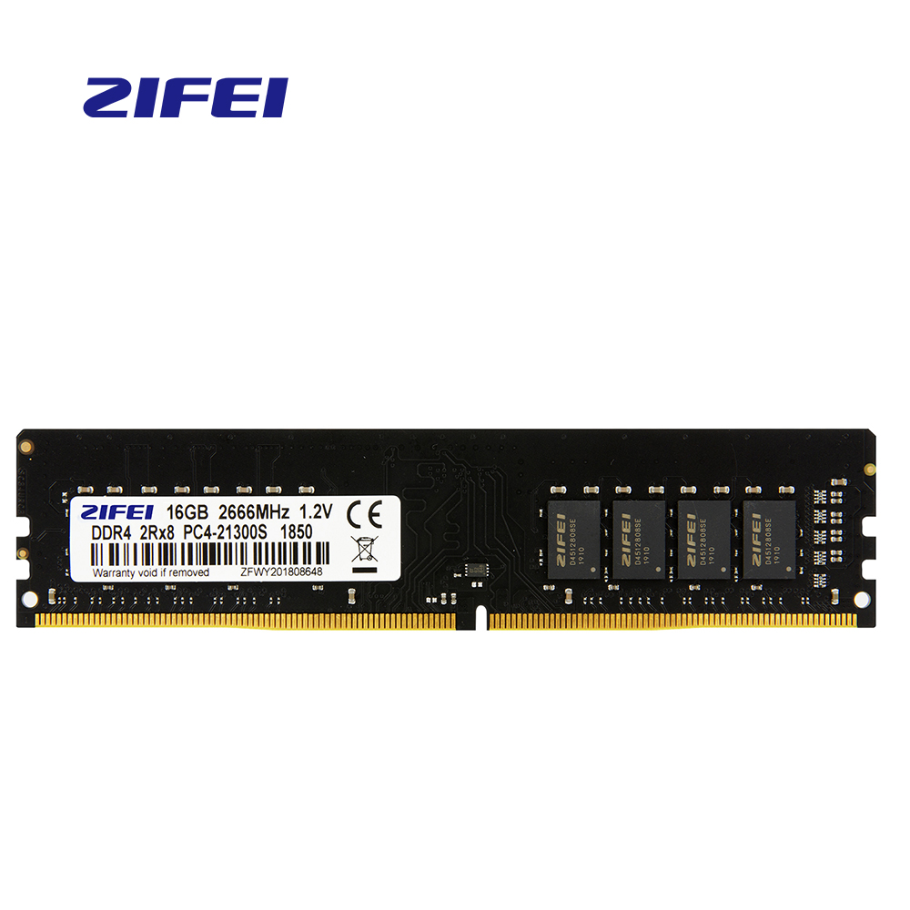 ZiFei  Ram  DDR4  4GB  8GB  16GB  2133MHz  2400MHz 2666MHz  288Pin LO-DIMM 1.2v Dual Channel Motherboard For Desktop
