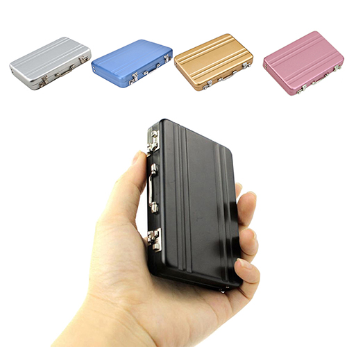New Metal Business ID Credit Card Holder Mini Suitcase Business Bank Card Name Card Holder Card Stocker