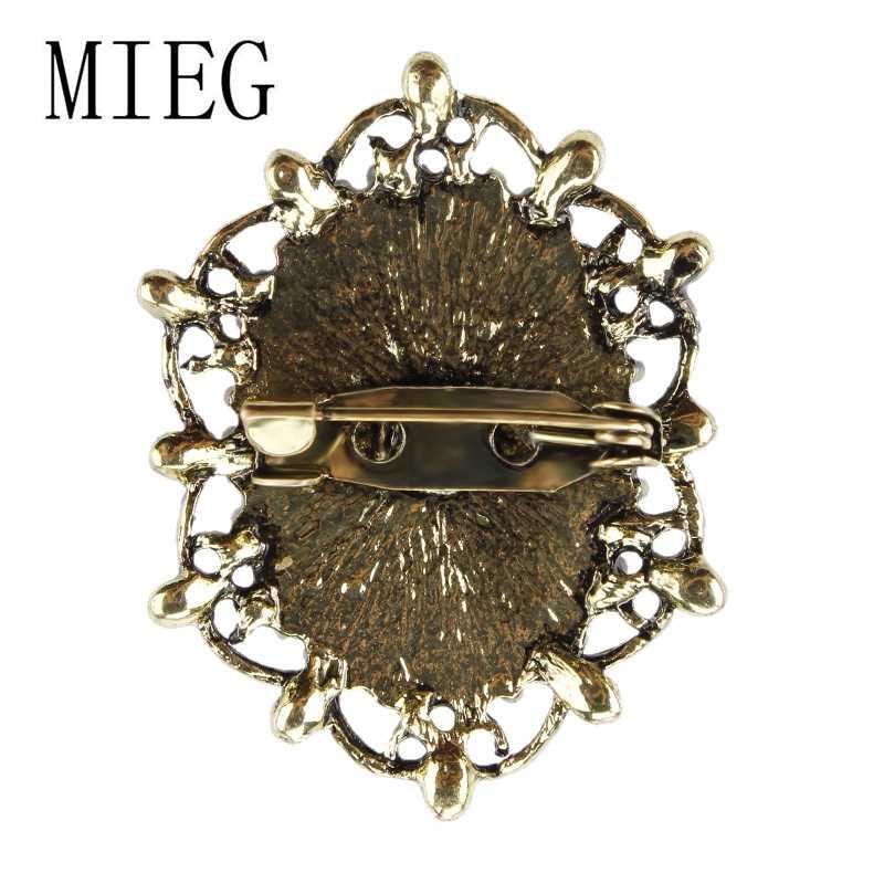 คริสตัล Rhinestones ประดับสไตล์วินเทจ Victorian Cameo เข็มกลัด Pins