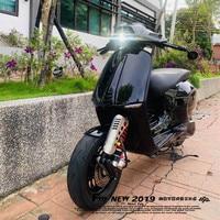 Motorrad Kotflügel Handmade Aluminium alliy Kotflügel Vorne Rad Erweiterung Kotflügel Für Vespa gts gtv Sprint primavera 300 150 auf