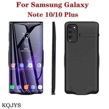 Przenośny Power Bank ładowarka etui do Samsung Galaxy Note 10 Plus etui na baterie zapasowa pokrywa ładowania baterii do Note 10