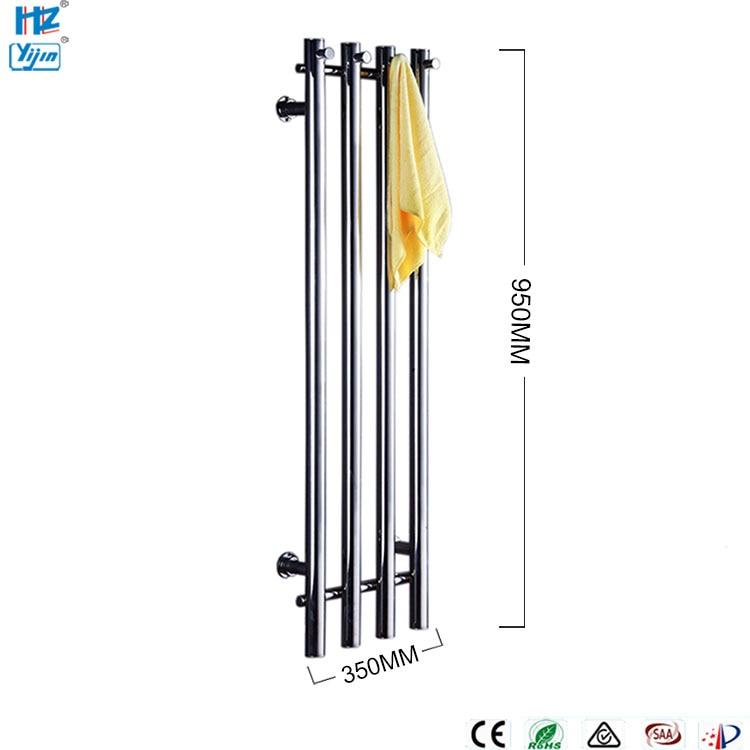 Купить с кэшбэком 2020 Popaular Design Stainless Steel 304 Vertical Heated Towel Rail Towel Warmer Wall Mounted HZ-932A