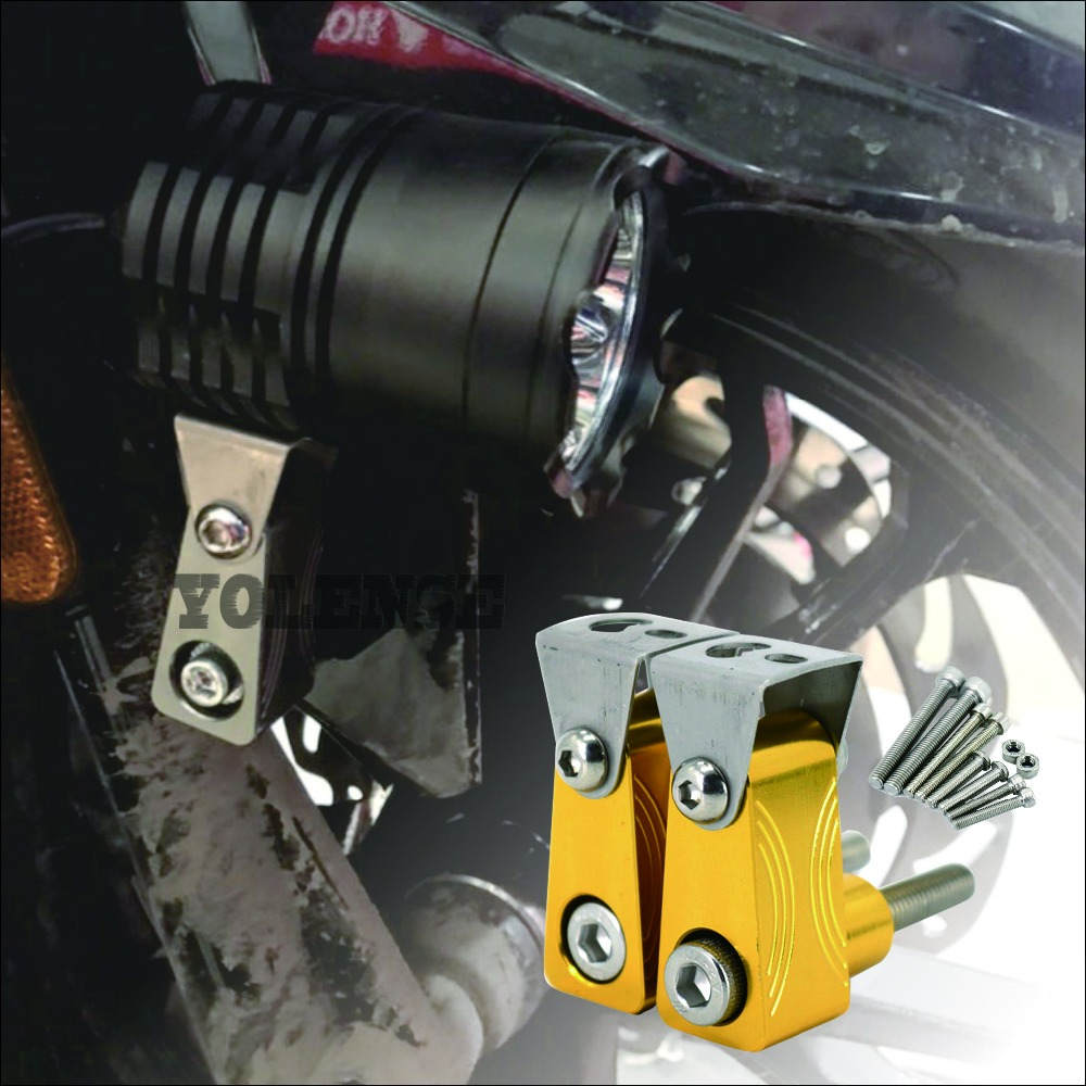 For <font><b>YAMAHA</b></font> NMAX155 NMAX 155 <font><b>125</b></font> TMAX530/500 <font><b>XMAX</b></font> 300 250 400 Motorcycle Lower Fork Spotlight Holder Lights lamp Mounting bracket image