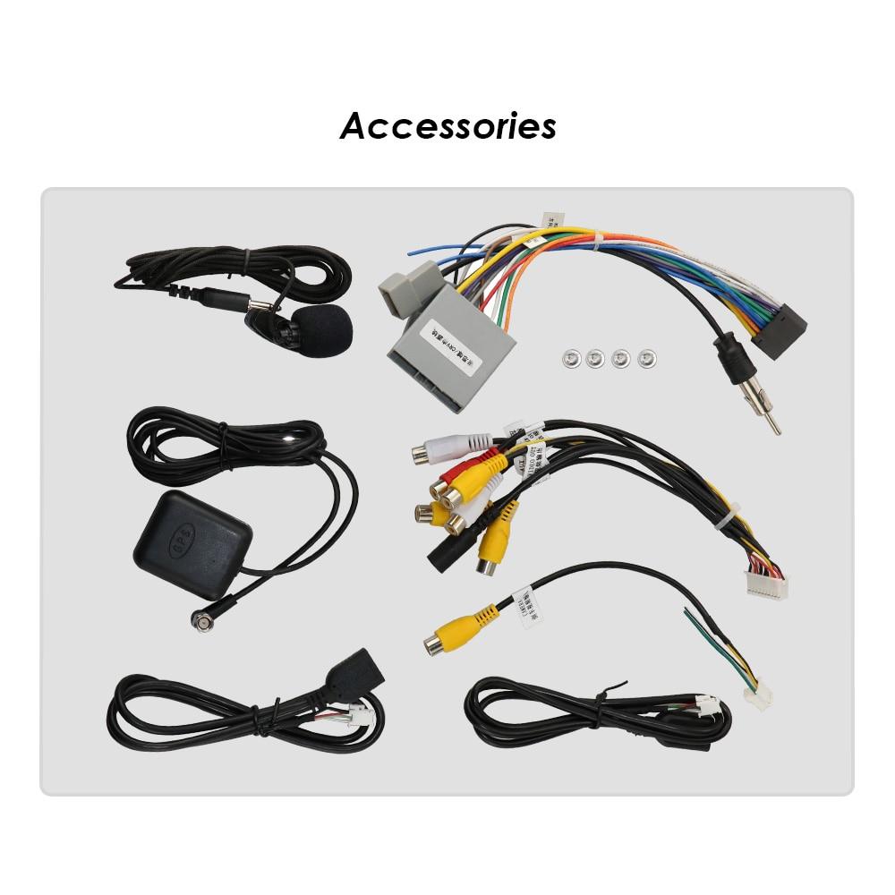 HD czterordzeniowy 1024X600 Android 9.0 samochodowy odtwarzacz multimedialny dla Honda CRV CR-V 2006-2011 4G WiFi GPS nawigacja stereo wideo auto pc