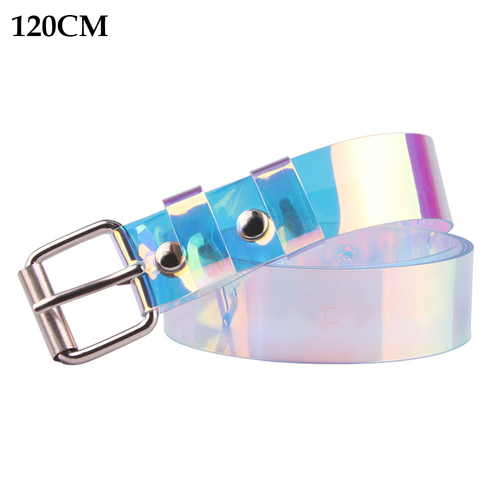 Invisible For Jeans Wide Pin Buckle Long Decoration Fashion Women Belt Colorful Transparent Plastic Cute Casual Student