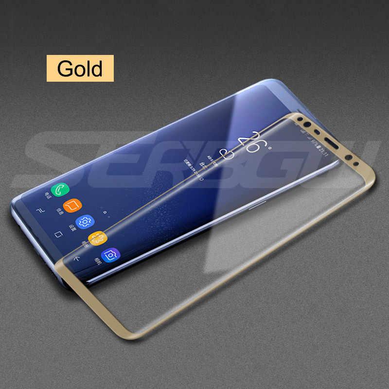 100D フルカバースクリーンプロテクター強化ガラスサムスンギャラクシー S8 S9 S10 プラス S10e ガラス注 8 9 10 Pro のガラスフィルム