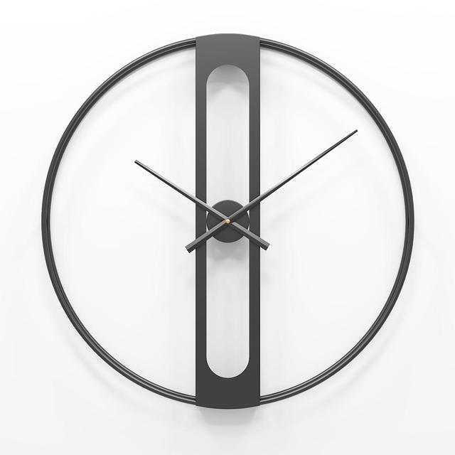Nordic Metalen Wandklokken Retro Iron Ronde Gezicht Grote Outdoor Tuin Klok Home Decoratie Wandklok Modern Design Reloj Pared