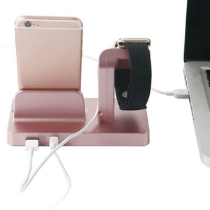 Image 3 - Cargador inalambrico 2In1 Charging Dock Station Holder Charger for IPhone XS 8 7 6 S Plus 5S Dock for Apple Watch Iwatch Charger