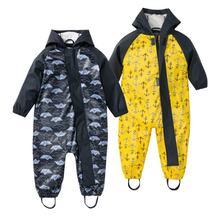 Детский плащ цельный защитный костюм для мальчиков и девочек