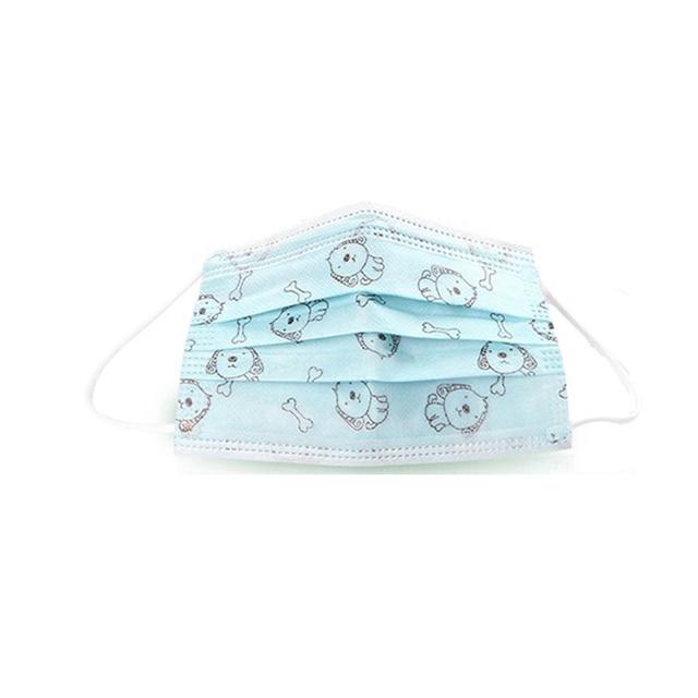 50 Pcs Medical Child Surgical Masks Cute Cartoon Dog Anti-Dust Disposable Mask 3 Ply Earloop Kids Anti-Flu Medical Face Masks 1