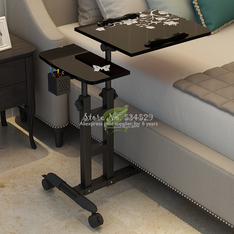 30%adjustable Computer Desk Home Laptop Table Simple Modern Mobile Computer Table With Lifting Bedside Laptop Tables With Fans