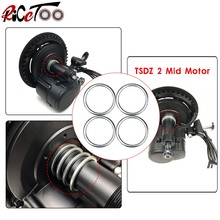 RICETOO Spacer 4 Pieces 9.6mm Ebike Conversion Kit Parts for Bafang BBS01/BBSHD TSDZ 2 Mid Drive Motor Bottom Bracket Fitting 2018 hot sale new design 44t aluminium alloy chainring for banfang bbshd mid drive motor kit