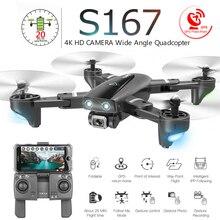 S167 Katlanabilir Profesyonel Drone Kamera ile 4K HD Selfie 5G GPS WiFi FPV Geniş Açı rc dört pervaneli helikopter Helikopter Oyuncak e520S SG900 S