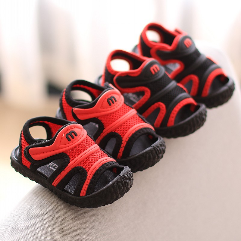 Summer New Boys' Cool Shoes 1-3 Years Old Baby Boys Summer Sandals Toddler Boys First Walkers Boys Casual Shoe