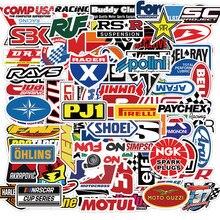50/100PCS JDM Racing Car Logo Stickers Laptop Water Bottle Bicycle Motorcycle Waterproof Graffiti Decal Sticker Packs Kid Toy
