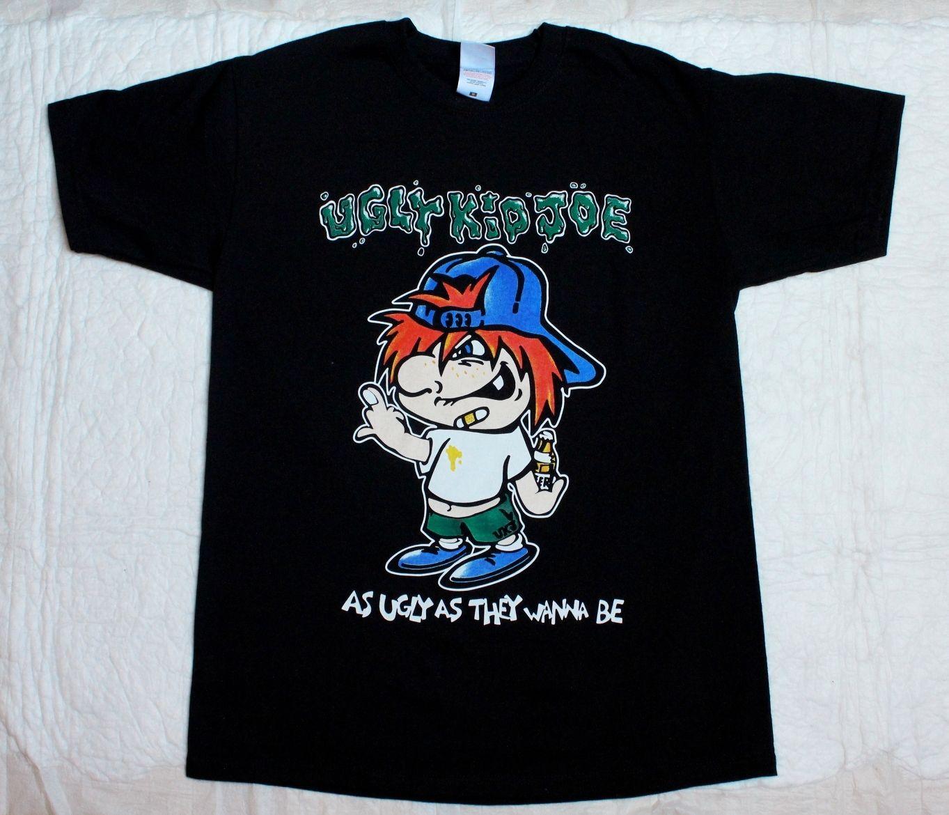 Feo chico JOE feo como quieren BE91 duro ROCK Alternativo nuevo negro camiseta