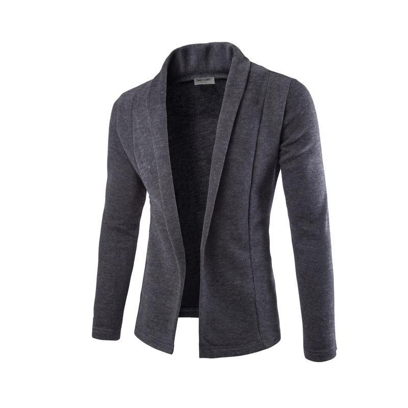 Zogaa Men's Sweater Blazer Autumn Winter Velvet Fashion Suit Jacket Solid Sweater Cardigan Coat Male Slim Fit Men Blazer Jackets