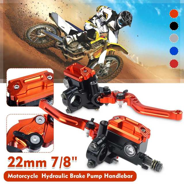 "22mm 7/8"" Motorcycle Brake Clutch Pump Lever Hydraulic Master Cylinder Aluminum Alloy For Honda/Yamaha/Suzuki"