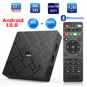 Image 2 - Android 10 Smart TV BOX HK1 MAX RK3318 Quad Core Ram 4GB Rom 64GB Bluetooth 2.4G 5G Dual WIFI USB3.0 3D 4K HDR Set Top Box