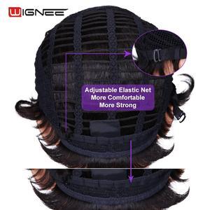 Image 4 - Wignee Korte Pixie Cut Krullend Menselijk Haar Pruiken Voor Vrouwen Natuurlijke Zwarte Remy Haar Jerry Krullen Hoge Dichtheid Lijmloze Goedkope human Pruiken
