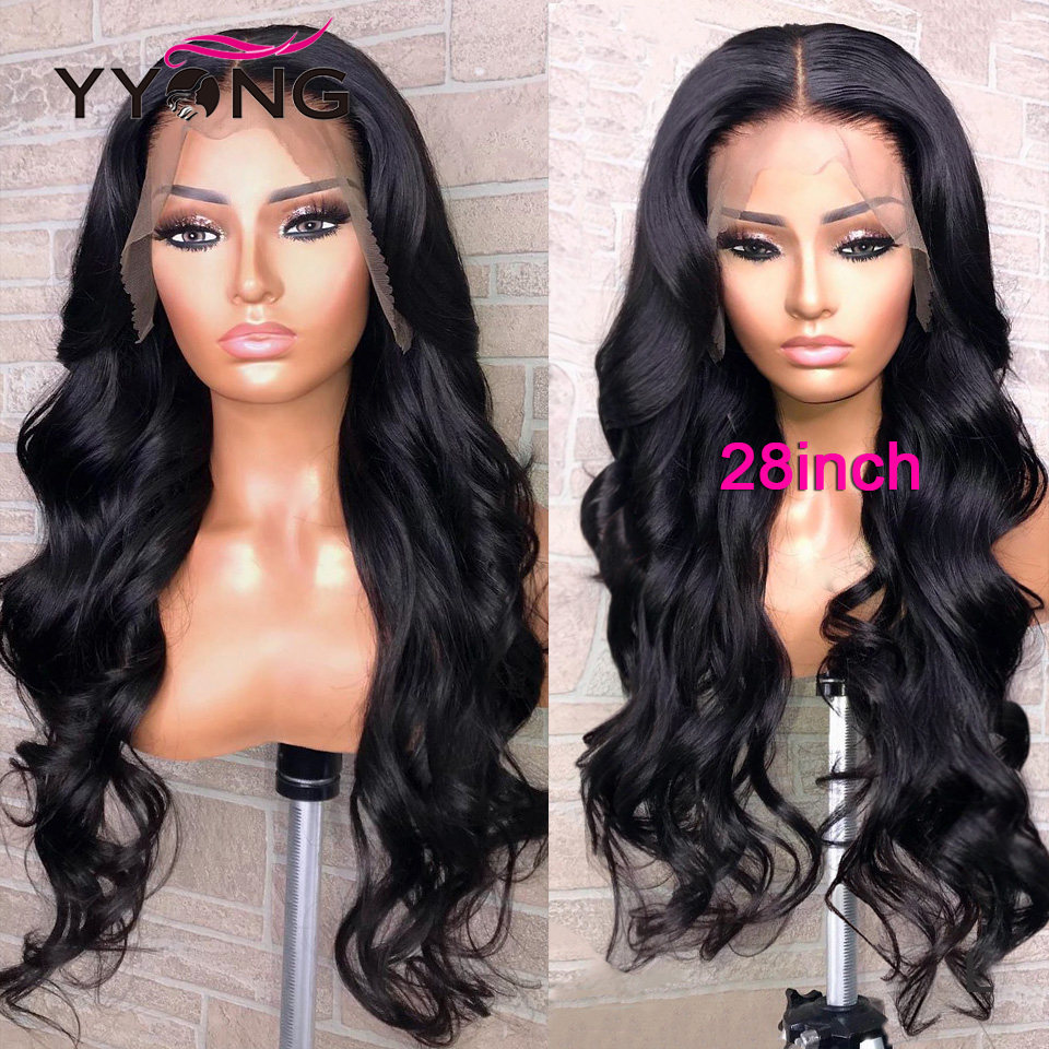 YYong  1x4& 13x1 Hairline Lace Wig Body Wave Lace Part  Wig   HD Transparent Lace Wigs Middle Part 120% 4
