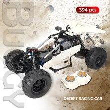 Twórca zdalnego sterowania Buggy klocki RC Off-Road Desert Stunt samochód wyścigowy zestaw klocków Model dzieci DIY zabawka na prezent dla dziecka