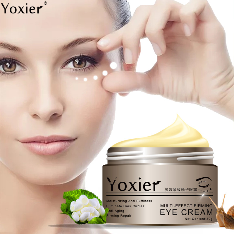 Yoxier Snail Eye Cream Peptide Collagen Serum Snail Essence  Anti-Wrinkle Remover Dark Circles Korea Cosmetics Patch For Eye