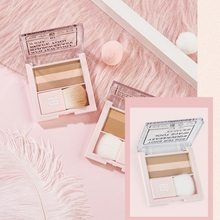 SANOO Lazy Three Color High Light Repair Capacity Disk Waterproof Long Lasting Bright White Skin Stereo Contour-in Bronzers & Highlighters from Beauty & Health on AliExpress