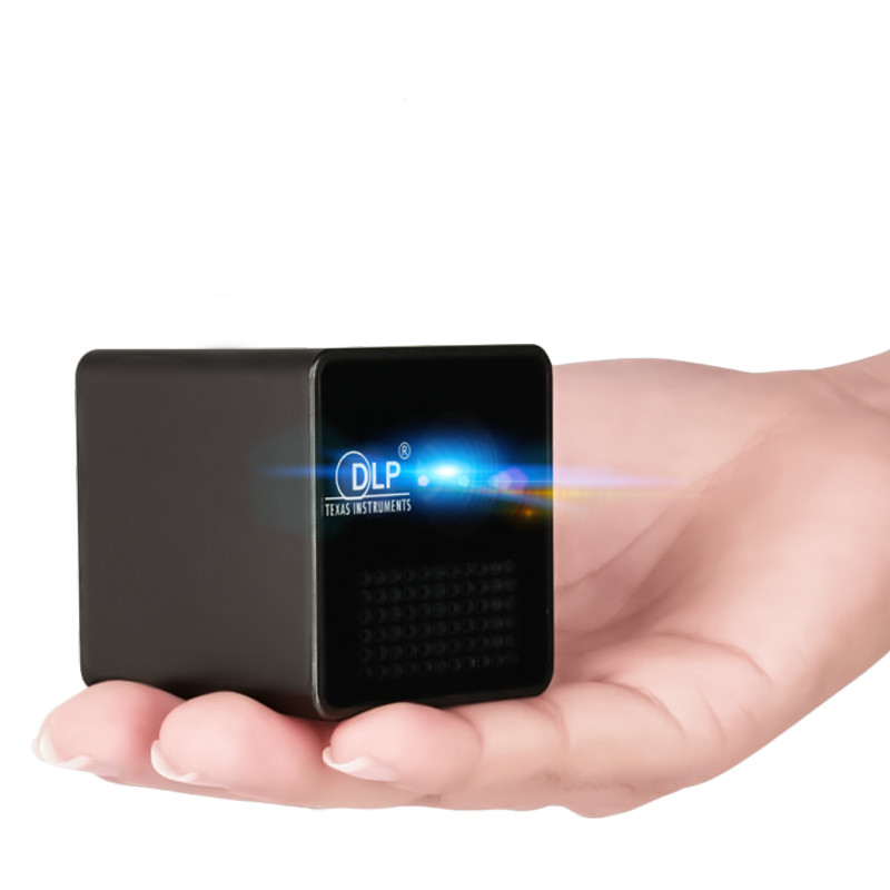 UNIC P1S WIFI sans fil poche DLP Mini projecteur Portable 40 Ansi lumens Micro Miracast DLNA vidéoprojecteur UNIC P1 + H Wifi