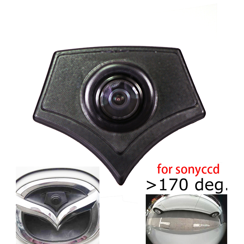 Close 180deg Color CCD High Quality Car Logo Front View Mark Camera For Mazda 2 3 5 6 CX-7 CX-9 CX-5 Mazda 8 Front Camera