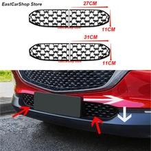 Per Mazda CX30 CX 30 CX30 2020 2021 anteriore inferiore paraurti griglia modanatura copertura auto anteriore inferiore centrale nero netto decorazione