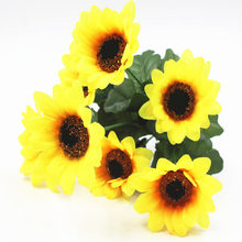 Home Wedding Decoration Simulated Flowers Seven Sunflowers