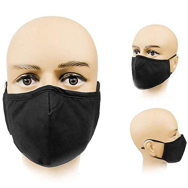 Cotton Mouth Face Mask Dust Face Muffle Carbon Cotton Filter Windproof Bacteria Proof Flu PM2.5 Black Mask 4