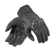 Перфорированные перчатки для езды на мотоцикле, уличного велосипеда, мотокросса, мотогонок, кожаные перчатки для мужчин