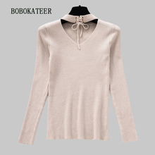 BOBOKATEER pullover women sueter mujer invierno 2019 pull femme hiver christmas sweater turtleneck knitted clothes
