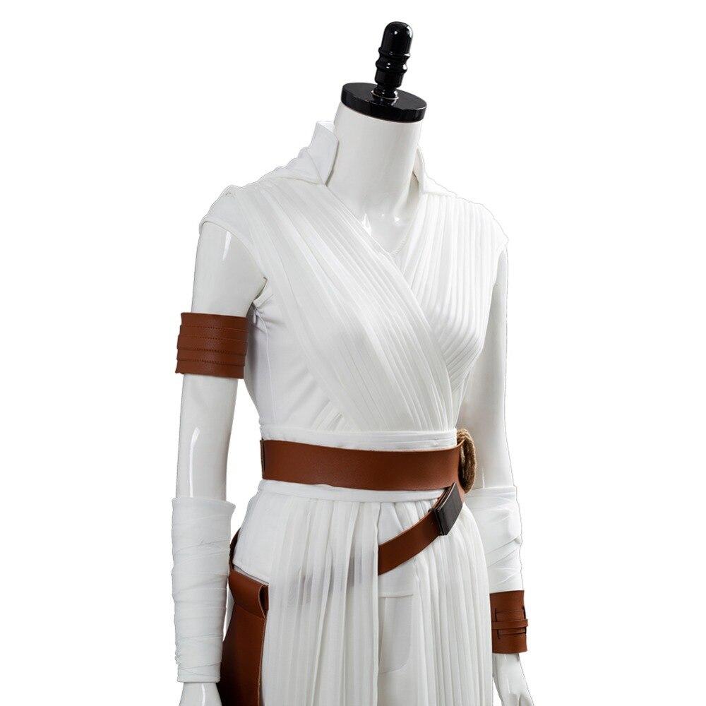 Estrela skywalker rey cosplay traje para adultos