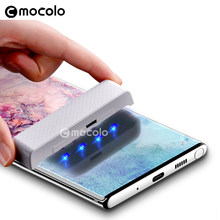 for Samsung Note 10 Screen Protector Mocolo Liquid Glued 3D Curved UV Tempered Glass for Samsung Note 10 Plus Screen Protector(China)
