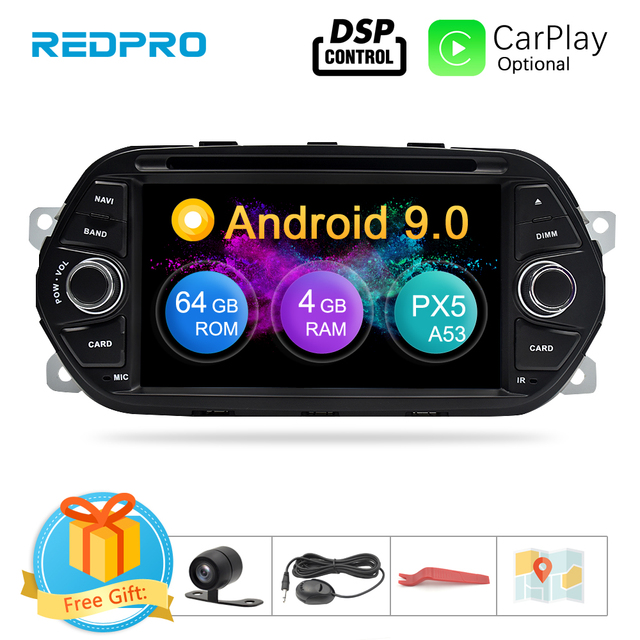 "4G RAM 7"" Android 9.0 Car DVD Player for Fiat Tipo Egea 2015 2016 2017 Car Stereo GPS Navigation RDS Radio FM Wifi Multimedia"