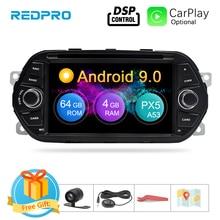 """4G RAM 7 """"Android 9,0 reproductor de DVD del coche para Fiat Tipo Egea 2015, 2016 de 2017 estéreo de coche navegación GPS RDS FM Radio Wifi Multimedia"""
