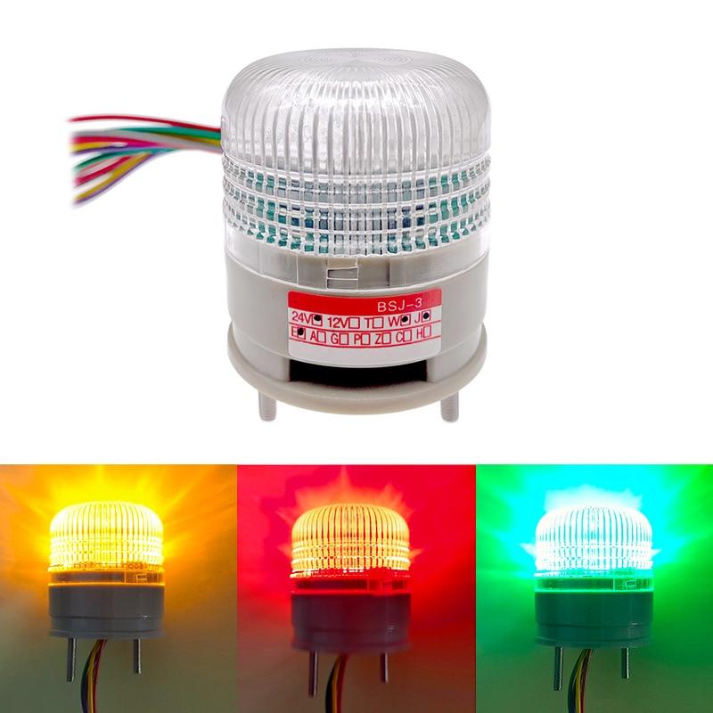 Three Colour Strobe Signal Warning Light LTA5002 12V 24V Indicator Light LED Lamp Small Flashing Light Security Alarm