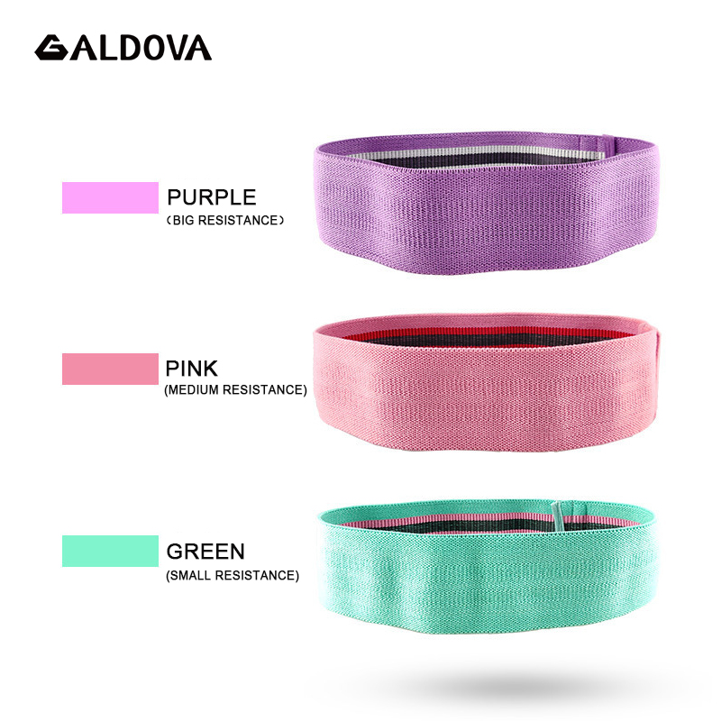 ALDOVA Hip Resistance Bands Rubber With Cotton Yoga Squat Gym Equipment Elastic Band Fitness