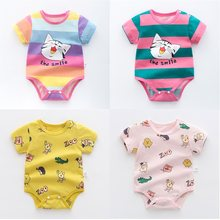 OLEKID 2021 Summer Baby Clothes Cotton Cartoon Baby Girls Rompers Newborn Baby Costume Infant Boy Clothing 0-3 Years Kids