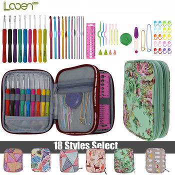 DIY Needle Arts Craft Crochet Hook Set and Bag Animal Ergonomic Yarns Crochet Knitting Needle Scissors Sewing Set Accessories