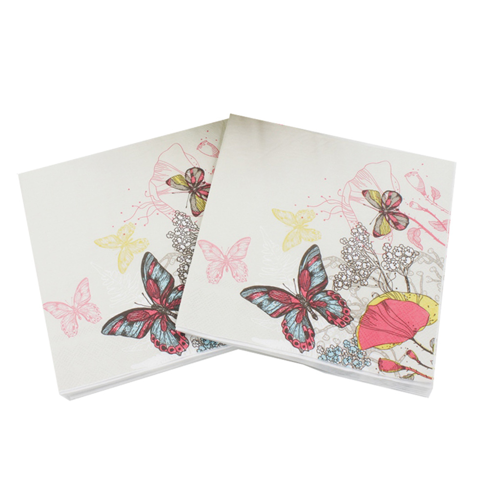 [Currently Available] Color Printed Napkin Butterfly Napkin Party Decoration Creative Tissue AliExpress Hot Selling