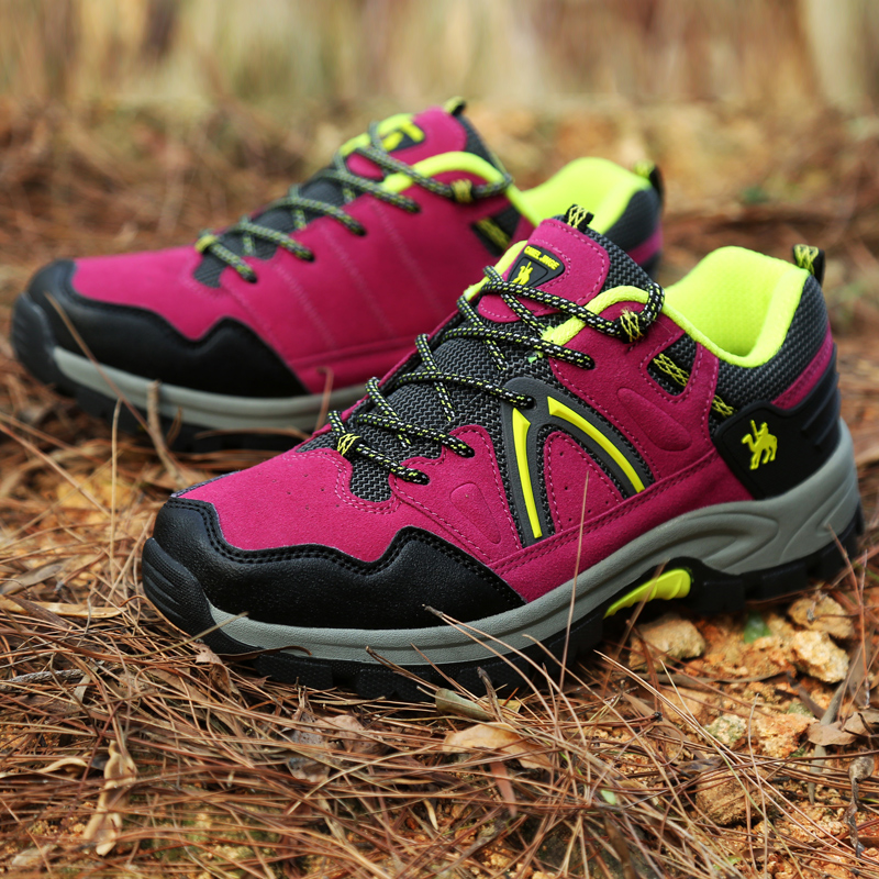 Hiking-Shoes Womens Non-Slip Autumn Hill Spring Rubber Outside title=