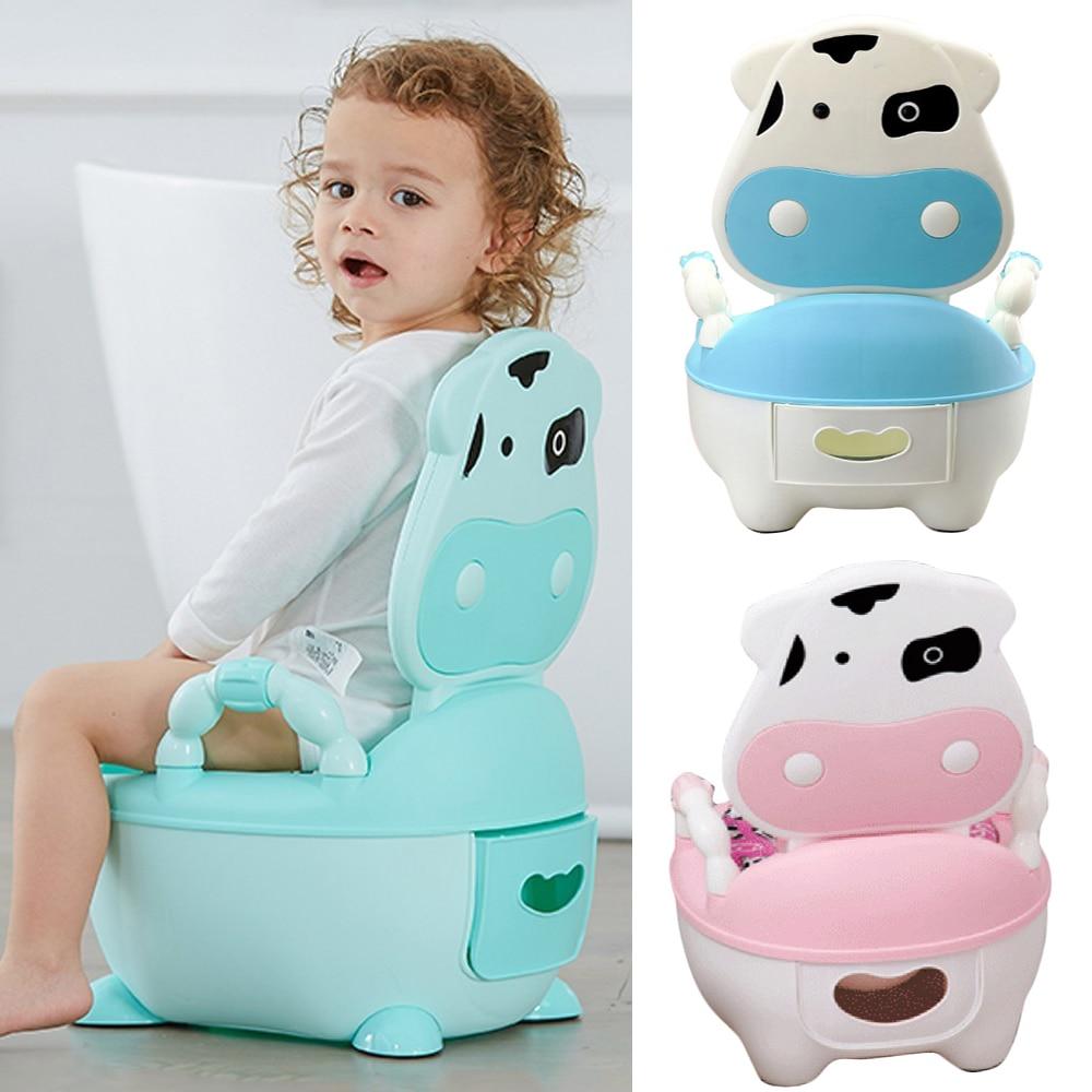 Baby Potty Toilet Bowl For Children Potty Training Baby Toilet Seat Portable Pot Cute Portable Comfortable Children Backrest Pot